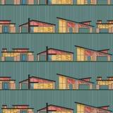 Chambres modernes de la moitié du siècle avec le fond vert illustration libre de droits