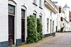 Chambres néerlandaises typiques de brique Image stock