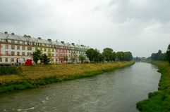Chambres par la rivière Photos stock