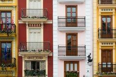 Chambres par le marché central, Valence Image stock