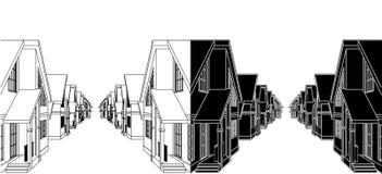 Chambres résidentielles dans le vecteur 01 de règlement illustration libre de droits