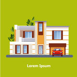 Chambres résidentielles plates colorées Images stock