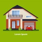 Chambres résidentielles plates colorées Photographie stock
