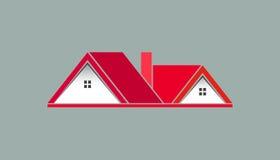 Chambres roses pour le logo de Real Estate illustration stock