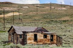 Chambres ruinées dans une ville fantôme américaine Image libre de droits