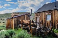 Chambres ruinées dans une ville fantôme américaine Photographie stock