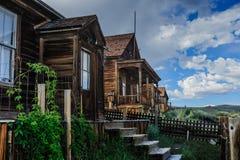 Chambres ruinées dans une ville fantôme américaine Photo stock