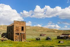 Chambres ruinées dans une ville fantôme américaine Image stock