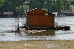 Chambres sur l'eau et les déchets Photo libre de droits