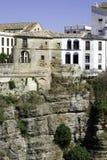 Chambres sur la falaise à Ronda, Espagne Images libres de droits