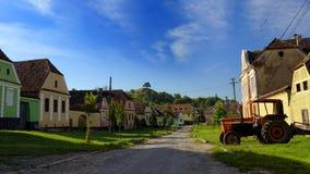 Chambres sur la ruelle dans la jument de Copsa, la Transylvanie, Roumanie Images libres de droits