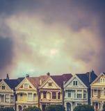 Chambres victoriennes de terrasse Image libre de droits
