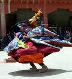 Chamdans i Lamayuru Gompa i Ladakh, norr Indien Arkivfoto