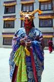 Chamdans i Lamayuru Gompa i Ladakh, norr Indien Arkivfoton