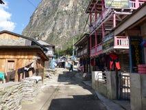Chame村庄,尼泊尔 库存图片