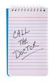 Chame o lembrete do doutor Foto de Stock