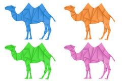 Chameau Ensemble coloré Illustration polygonale de vecteur illustration libre de droits