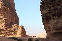 Chameaux en Wadi Rum Images libres de droits