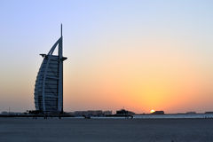 Chameaux sur une plage de Dubaï Photos stock