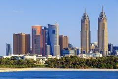 Chameaux sur une plage de Dubaï Image libre de droits