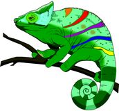 Chameleon. Illustration Royalty Free Stock Photo