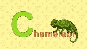 chameleon Alfabeto inglese dello ZOO - lettera C E illustrazione vettoriale
