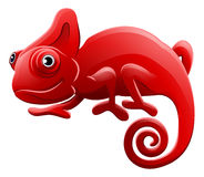 Chameleon Animal Cartoon Character Stock Images