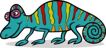 Chameleon animal cartoon illustration Stock Photos