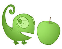 Chameleon apple Royalty Free Stock Photography