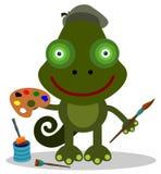 Chameleon artist Stock Images