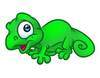 Chameleon baby cartoon illustration Royalty Free Stock Photo