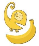 Chameleon banana Royalty Free Stock Photography