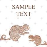 Chameleon card vector illustration Royalty Free Stock Images