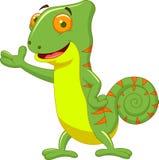 Chameleon cartoon Stock Photo