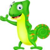 Chameleon cartoon Stock Photography