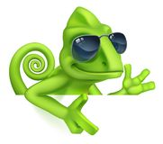 Free Chameleon Cool Shades Cartoon Lizard Character Stock Images - 135973244