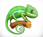 chameleon 3d vector stock illustratie