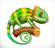 chameleon 3d vectorpictogram vector illustratie