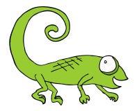 Chameleon draw Stock Photography