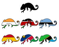Chameleon flags Stock Images