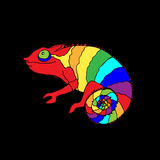 Chameleon. Hand-drawn sketch of a chameleon, vector illustration Stock Photography