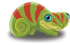 Chameleon, illustration Stock Images