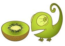 Chameleon and kiwi Stock Photos