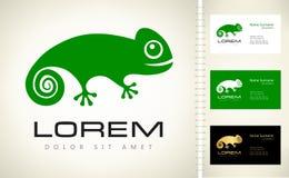 Chameleon logo. Animal vector illustration stock illustration