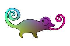 Chameleon. My illustration of a chameleon Stock Photo