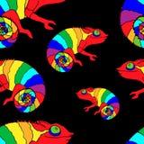 Chameleon pattern. Chameleon, seamless pattern, vector image Stock Illustration