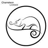 Chameleon. Round logo. Royalty Free Stock Photos