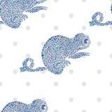 Chameleon seamless vector illustration Stock Photos