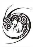 Chameleon tattoo Royalty Free Stock Photos