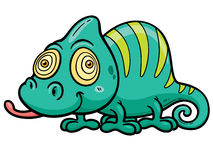 Chameleon. Vector illustration of Cartoon Chameleon Royalty Free Stock Image